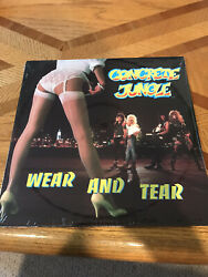 Concrete Jungle Wear and Tear 1988 Glam Hard Heavy Hair Metal SEALED Record LP $15.95