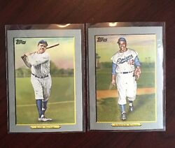 2009 Topps TURKEY RED SET Babe Ruth Jackie Robinson (50) card Series 1 Baseball  $30.00
