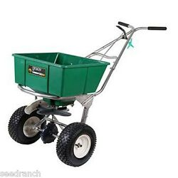 Lesco High Wheel Fertilizer Spreader with Manual Deflector 80 Lb. Hopper $495.00
