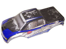 Redcat Volcano EPX 4x4 Monster Truck BLUE Lexan Truck Body Shell Cover Painted $22.95