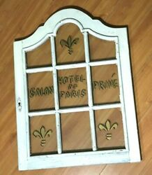 Large Wall hanging Glass WINDOW Frame Shabby Chic She Shed Hotel De Paris Salon