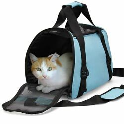 Pet Carrier Soft Sided Cat Dog Comfort Travel Tote Bag Travel Approved Mul Color $16.89