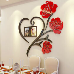 US Family Love Rose Wall Decals 3D DIY Photo Frame Wall Sticker Mural Home Decor $21.99