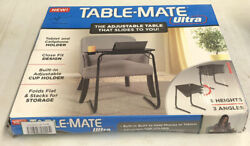 TABLE-MATE ULTRA ADJUSTABLE 6 HEIGHTS/3 ANGLES HOLD PHONES/ TABLES CUPHOLDER $39.95