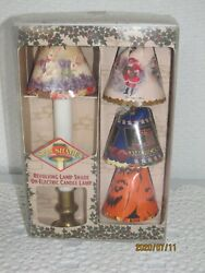 1998 REVOLVING LAMP SHADES ON A ELECTRIC LAMP & 8 HOLIDAY SPIN SHADES INCLUDED  $39.49