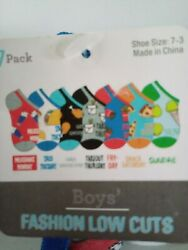 7 Pairs Kids Boys Novelty Design Day of the Week Socks size 7 3 New $10.99