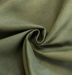 """Olive Green  Light Weight 100% linen fabric 56"""" Width Sold By The Yard $12.99"""