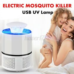 Electric UV Mosquito Killer Lamp OutdoorIndoor Fly Bug Insect Zapper Trap Light $10.49