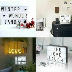 Light Box Message DIY Personal LED Sign 220 Letters Emojis Numbers New $24.91