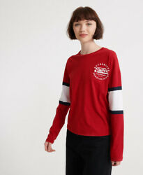 Superdry Womens Graphic Baseball Top $17.48