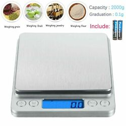 2000gx0.1g Electronic Digital Kitchen Food Cooking Weight Balance Scale Accurate $9.88