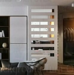 Self Adhesive Mirror Wall Stickers Decoration Decals Bedroom Home DIY Geometry $31.34