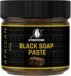 African Black Soap Paste 4 oz. 100% Pure Raw Organic For Body Face Acne Scar $6.95