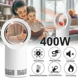 Portable USB Air Cooler Mini Fan Electric Air Conditioner Bladeless Neckband Fan $34.95