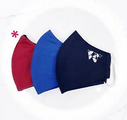 Reusable Face Mask (Pack of 3) - High Quality, Washable, Multi-Color $9.95