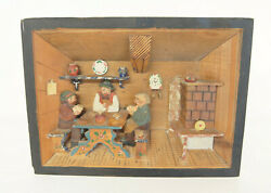 Imported D#x27;Indri Giftware Made in Italy Wooden Relief Scene 3D Box Kitchen Theme $25.90