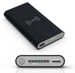 Portable Power Bank Qi Fast Charging Wireless Charger 10000mah Iphone Samsung $18.99