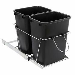 Double Pull Out Trash Garbage Can Sliding Kitchen Waste Container Durable $60.99