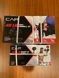 NEW CAP COATED RUBBER HEX DUMBBELLS select-weight 51015 20 25 30 35 40LB $79.99