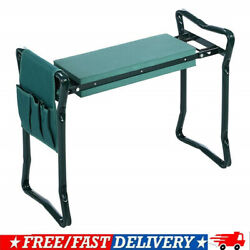Folding Garden Kneeler Bench Kneeling Soft Eva Pad Seat With Stool Pouch $25.89