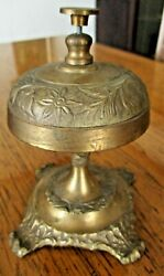 Solid Brass Ornate Hotel Working Desk Bell On Stand $14.99