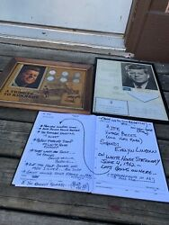 June 4 1962 JFK Personal Signed Evelyn Lincoln Letter + Silver coins rare $189.99