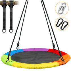 40inch Outdoor Tree Swing Saucer Swing Round Plate for Kids Bis 300kg Waterproof $75.85