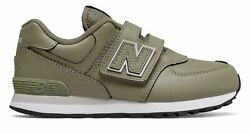 New Balance Kid#x27;s 574 Hook and Loop Little Kids Male Shoes Green $20.46