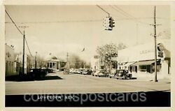 Lovelock Nevada Commercial View RPPC Lovely Lady Shop Ford Dealer Devolite $25.00