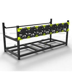 NEW 4 Style Veddha 8 6 GPU Mining Rig Aluminum Case Stackable Open Air Frame SFW $47.99
