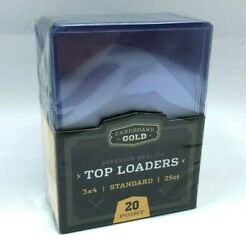 Trading Card Sleeves Hard Plastic Clear Case Holder 25 Baseball Cards Topload $10.95