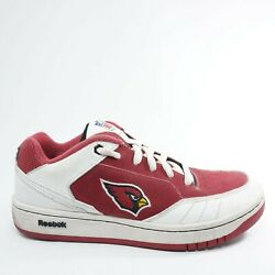 Reebok Mens NFL Cardinals Football Recline PH2 Sneakers Size 7 Red White Leather $34.95