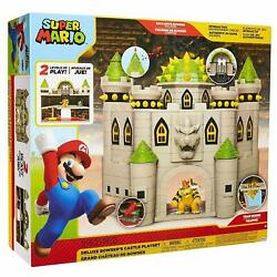 Nintendo Super Mario Deluxe Bowser#x27;s Castle Playset NEW amp; SEALED $49.90