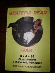 GRATEFUL DEAD BACKSTAGE PASS GIANTS STADIUM 08 04 1994 DEAD & COMPANY JERRY...
