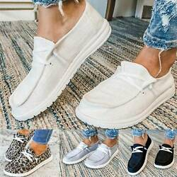 Womens Pumps Slip On Flat Loafers Single Outdoor Summer Casual Boat Shoes Sizes $20.04
