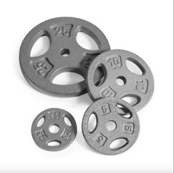 CAP Weight Plates 25lb 10lb 5lb & 2.5lb *FREE SHIPPING* Singles and SetsPairs $13.95