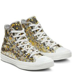 Converse All Star Womens Size 10 Holiday Scene Silver amp; Gold Sequin High Tops $69.99