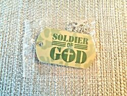 Soldier of God Camouflage Dog Tag with Cross Kids VBS Military Gift Set of 2 $12.75
