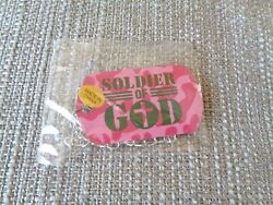 Set of 4 Soldier of God Pink Camouflage Dog Tag w Cross Kids VBS Military Gift $24.75