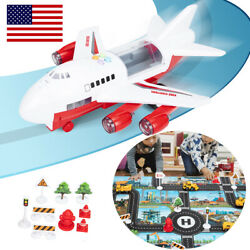 6 CarsLarge Plane11 Road SignsGame map Toys Car Set Child Gift for New Choose $32.79