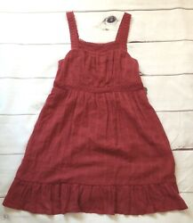 KNOX ROSE Womens Size Small Burgundy Dress Embroidered BOHO Textured NEW $12.99
