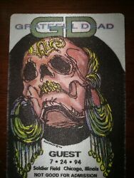 GRATEFUL DEAD BACKSTAGE PASS 07 24 1994 SOLDIER FIELD CHICAGO ILLINOIS