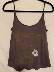 Women's size small O'Neil BrownGrey America Let Freedom Ring Tank Top $15.95