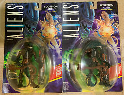 Lot 2 (two) SCORPION ALIEN - ALIENS Kenner Action Figures (1992) MOC $12.84