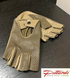BRAND NEW Walnut Driving Finger less Perforated Leather Gloves BRAND NEW $38.39