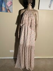 "BCBGeneration Size M Lana Combo Maxi Dress Length 62"" Poly $29.00"