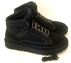 NEW UGG HIGHLAND HIKER BLACK LEATHER WATERPROOF HIKING MEN#x27;S BOOTS SIZE US 11 $99.99