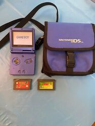 Nintendo Game Boy Advance SP Cobalt Blue Handheld System With Two Games  $75.99