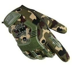 NEW CAMO Mechanix M Pact Tactical Gloves Military Bike Race Sport Hunting Wear $27.99