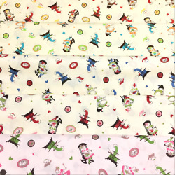 Japanese Print Retro Kitchen Cooking Cotton Fabric By The Half Yard $7.00